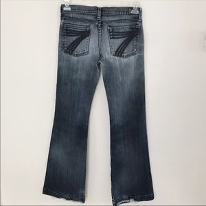 7 For All Mankind Dojo Flare Jeans Size 27
